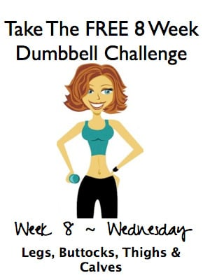 Week 8, Wednesday ~ FREE 8 Week Dumbbell Challenge