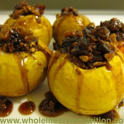 Organic Baked Apples With Maple Rum Sauce Recipe