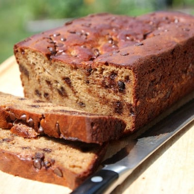 Chocolate Chip Banana Nut Bread {Paleo, Gluten Free and Grain Free}