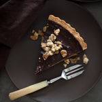 Chocolate Date Caramel Walnut Tart