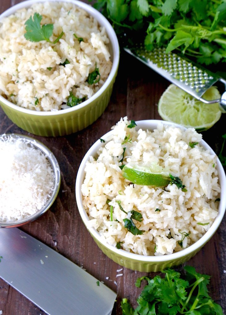 Coconut Cilantro Lime Rice Recipe