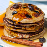 Cinnamon, Ginger and Raisin Paleo Pancakes