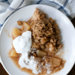 Cinnamon Maple Apple Crisp