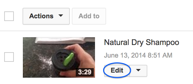 YouTube Edit Button