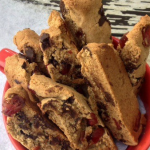Cranberry Chocolate Chili Biscotti