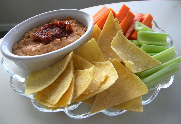 Smoky Sun-dried Tomato Hummus-WholeLifestyleNutrition.com