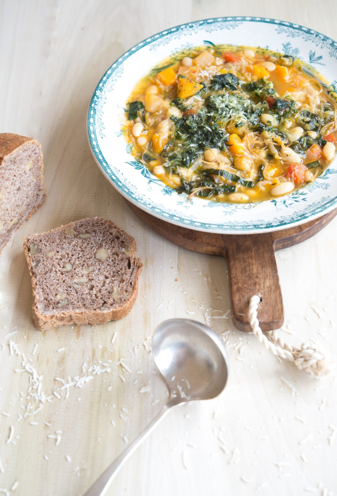 How To Make An Soupe Au Pistou {French Vegetable Soup With Basil Paste} | WholeLifestyleNutrition.com