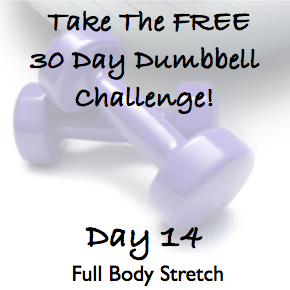 DAY 14 ~ 30 Day Dumbbell Challenge ~ Full Body Stretch