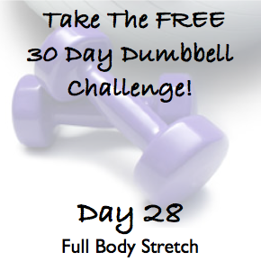 DAY 28 ~ 30 Day Dumbbell Challenge ~ Full Body Stretch