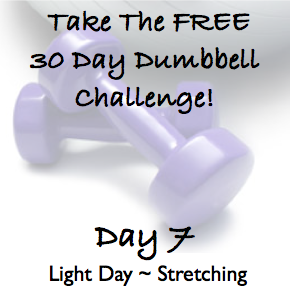 DAY 7 ~ 30 Day Dumbbell Challenge ~ Light Day, Stretching The Whole Body!