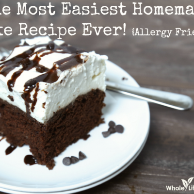 The Most Easiest Homemade Cake Recipe Ever {Allergy Friendly Options}