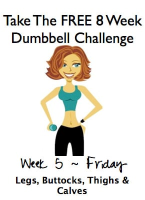 Week 5, Friday ~ FREE 8 Week Dumbbell Challenge