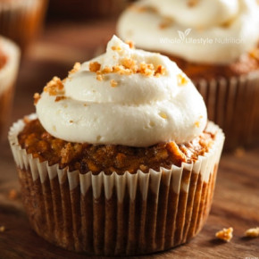 Gluten Free and Grain Free Carrot Cake Cupcake Recipe | WholeLifestyleNutrition.com.001