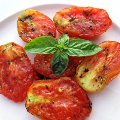 Grilled Marinated Organic Tomatoes Recipe