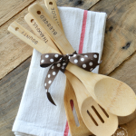 Hand Stamped Wooden Utensils