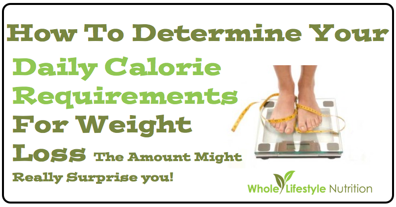 How To Determine Your Daily Calorie Requirement For Weight Loss | WholeLifestyleNutrition.com
