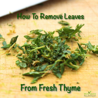 How To Remove Leaves From Thyme