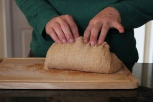Pull the dough up and pinch up top