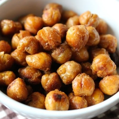 The BEST Organic Roasted Chickpeas Recipe