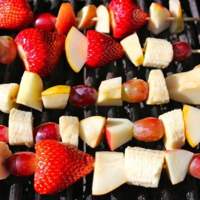 Family Friendly Fridays ~ Grilled Organic Fruit Kabobs