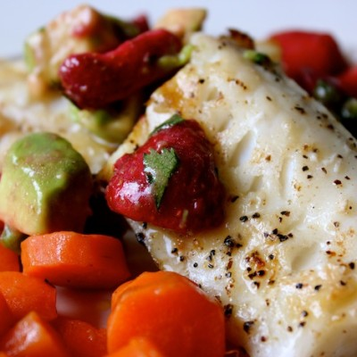Wild Grilled Cod With Organic Strawberry Salsa Recipe
