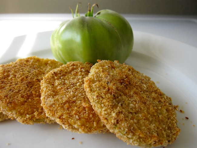 Holistic Oven Fried Green Tomatoes Recipe