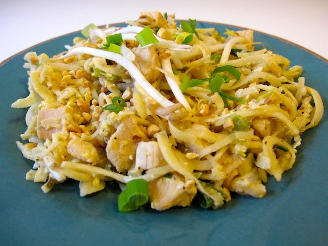 Organic chicken pad thai recipe whole lifestyle nutrition organic chicken pad thai recipe forumfinder Images