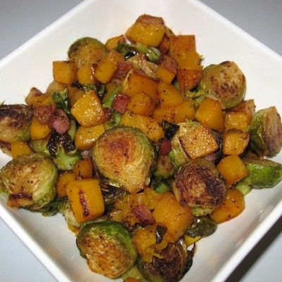 Pancetta Sprouts and Squash, Holistic Recipe