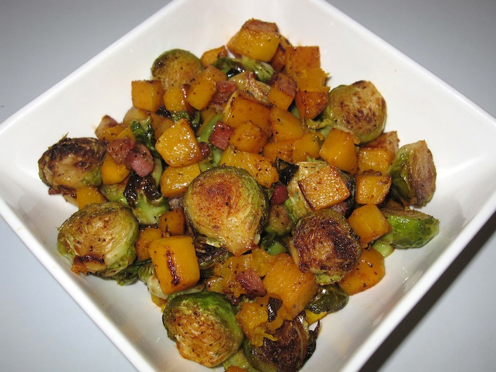 Pancetta Sprouts and Squash