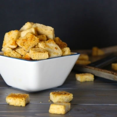 Organic Parmesan Garlic Sourdough Croutons Recipe!