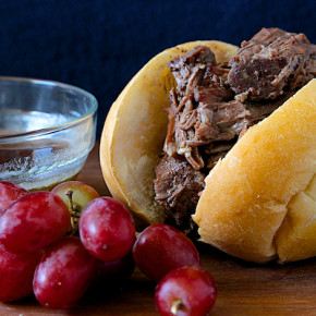 Crockpot Shredded Beef Sandwiches