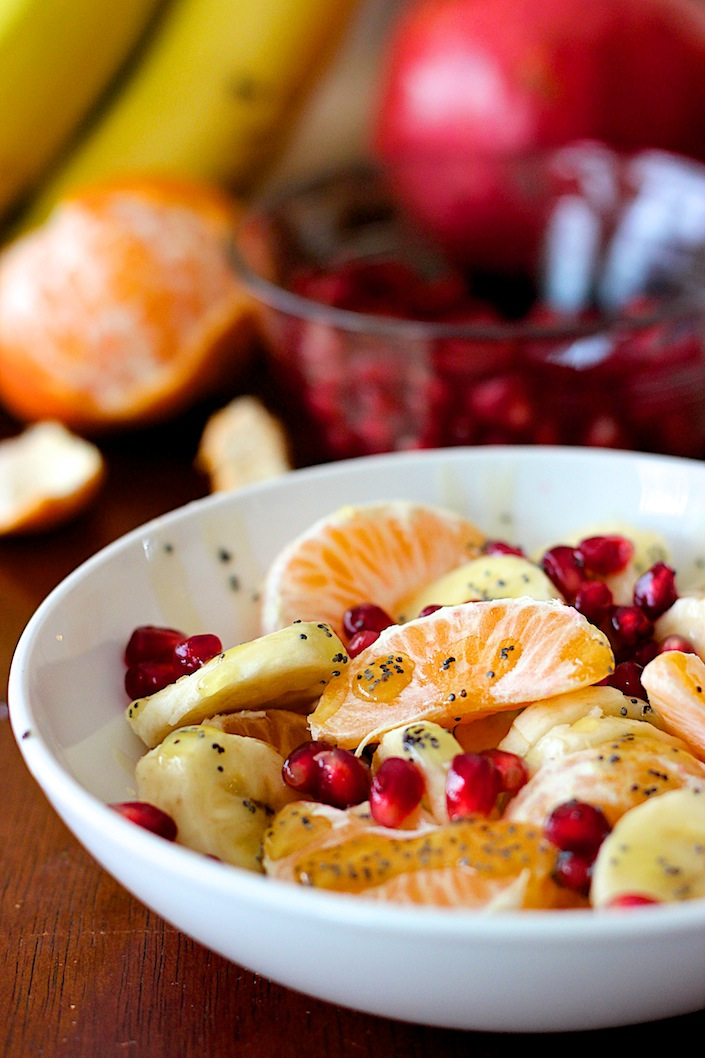 Winter Fruit Salad with Lemon Poppyseed Dressing | WholeLifestyleNutrition.com