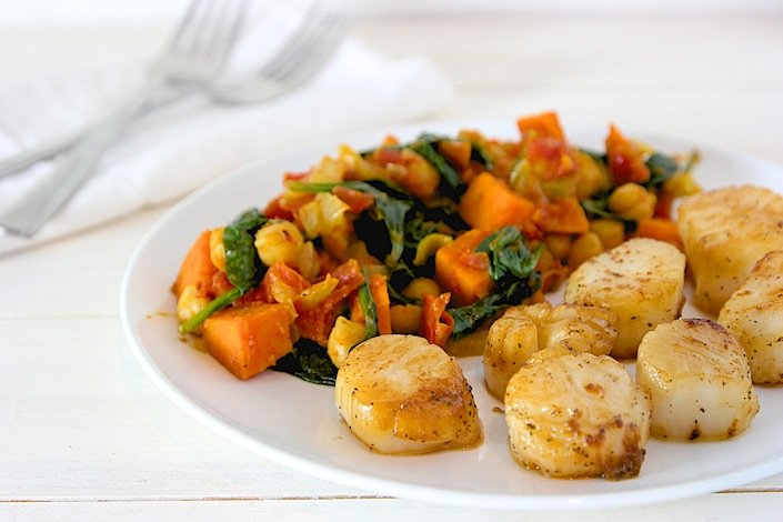 Sea Scallops & Sweet Potato Curry | WholeLifestyleNutrition.com