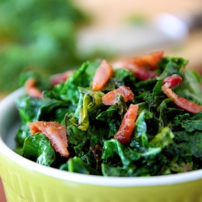 Wilted Organic Kale & Bacon | WholeLifestyleNutrition.com