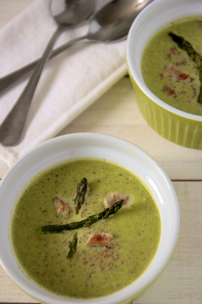 A delicious asparagus soup and learn why your urine might smell after eating asparagus! | WholeLifestyleNutrition.com