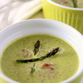 A delicious asparagus soup recipe and learn why your urine might smell after eating asparagus! | WholeLifestyleNutrition.com