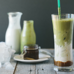 Iced Matcha and Salted Caramel Latte