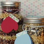 Layered Popcorn Gift Jars
