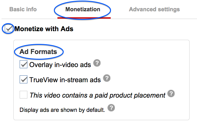 Monetization Tab