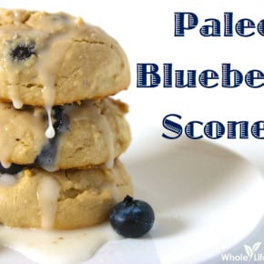 Paleo Blueberry Scones | WholeLifestyleNutrition.com