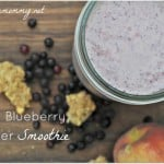 Peach Blueberry Cobbler Smoothie