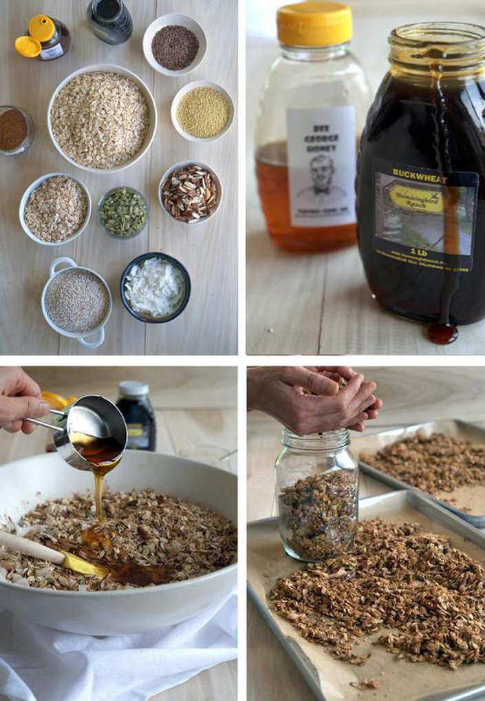 Healthy Organic Homemade Tahini Granola Recipe | WholeLifestyleNutrition.com