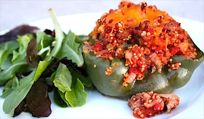 Gluten Free Quinoa Stuffed Peppers Recipe | WholeLifestyleNutrition.com