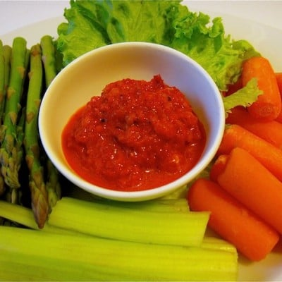 Roasted Red Pepper Dip/Spread, Holistic Recipe