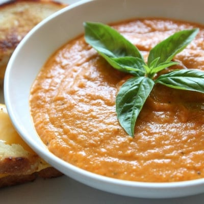 Organic Roasted Tomato Soup Recipe {Gluten Free, Grain Free and Paleo}