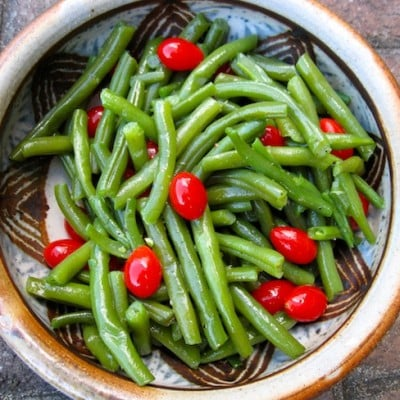 Rustic Green Beans, Holistic Recipe