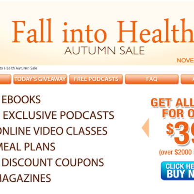 New ~ Fall Into Health Autumn Sale! Over $2,000 of Amazing Products for Only $39!!
