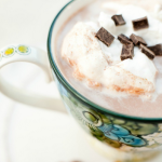 Spiced Hot Chocolate With Vanilla Whip