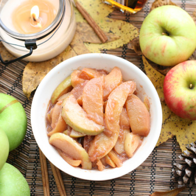 Warm Sautéed Organic Cinnamon Apples Recipe
