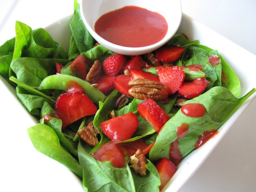 Spring Harvest Salad With Fresh Berry Dressing